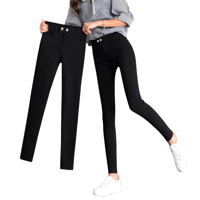 打底裤女外穿加绒2018秋季新款韩版显瘦魔术裤黑色紧身小脚女裤子