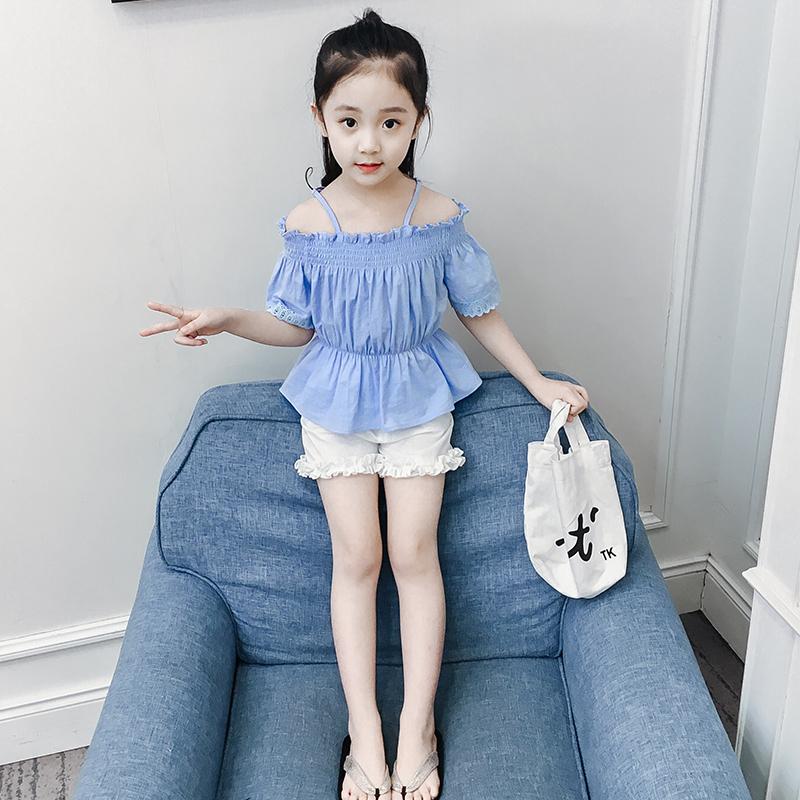 女童夏装套装洋气2019新款时尚韩版儿童短袖两件套女孩童装时髦潮