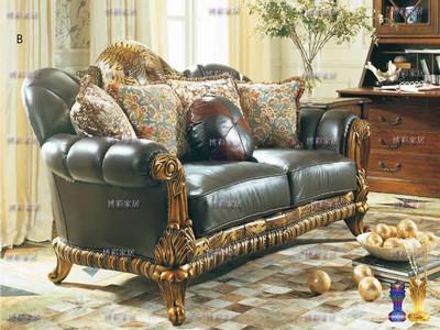 客厅真皮沙发组合家具城宫廷沙发实木大户型欧式沙发12三人皮沙发网店网址