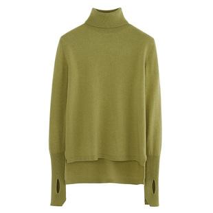 薇娅定制高领100%纯羊毛羊毛衫 Y19Z01638