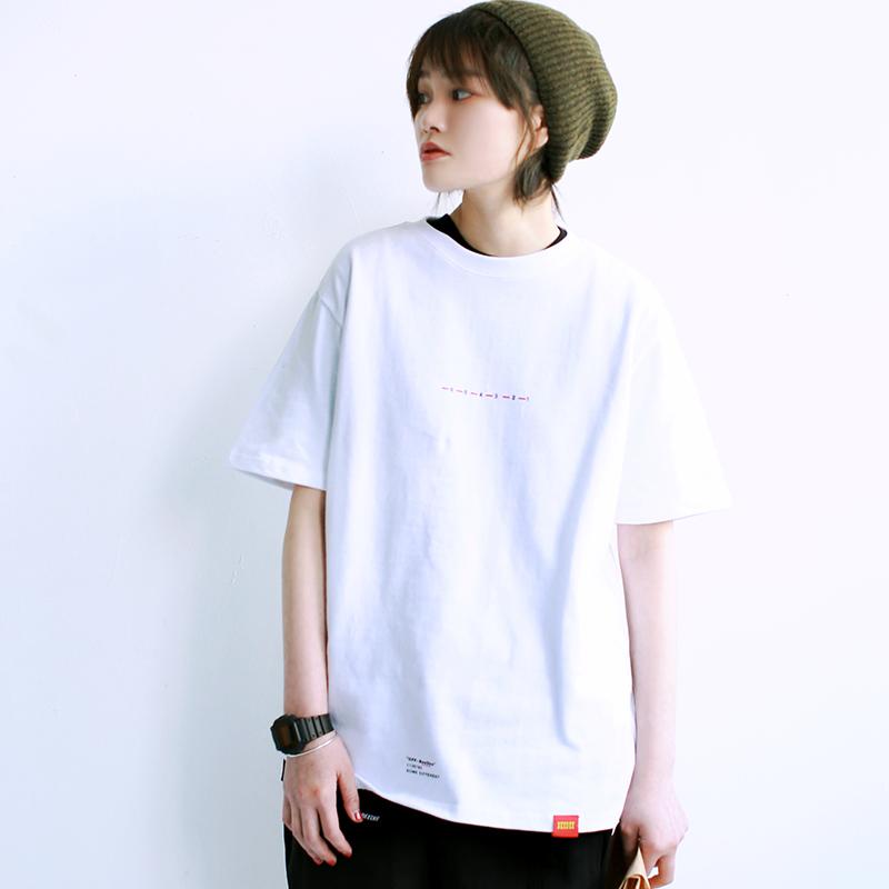 日系数字印花t恤