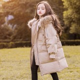 Children down jacket girl sin long thickened boys in the big child's new Korean version of the East Gate children's clothing anti-season clearance