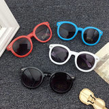 New Korean children's sunglasses boys and girls frog mirror baby sunglasses anti-UV children's glasses tide