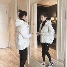 2018 winter new Korean version of the thin wild hooded padded cotton women short paragraph down jacket cotton jacket