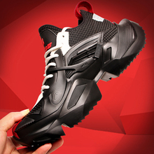 Messiins Super Fire Men's Inside Increased Thick-soled Sports Shoes Korean version High-Upper Shoes Winter Warm Tide Shoes Daddy Shoes