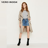 绫致 Vero Moda spring and summer new lapel drop shoulder open windbreaker jacket female 318121526