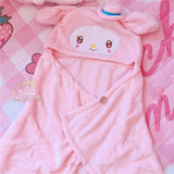 New cute Melody Yugui dog shawl air-conditioned small blanket lazy nap cape home girl small blanket