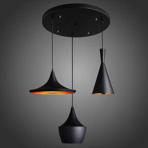 简约创意乐器吊灯单头北欧复古咖啡厅吧台灯西餐厅艺术三头小吊灯