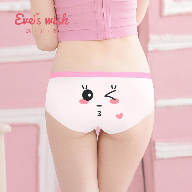 三角裤表情低腰卡通动漫日系大码甜美少女