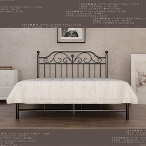 现货1869铁艺床美式乡村婚床田园铁床架 双人床1.8单人床1.5 W011