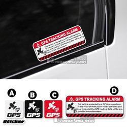 GPS警示反光车贴汽车外饰装饰卫星定位个性划痕遮挡防水贴纸贴花