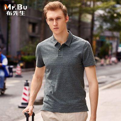 布先生POLO衫 夏装男装翻领纯棉爸爸短袖t恤男中年男人上衣服半袖