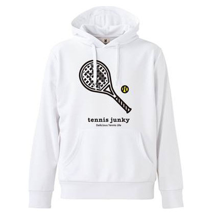 日本JP版Tennis Junky男女款运动网球服连帽保暖卫衣TJ18506