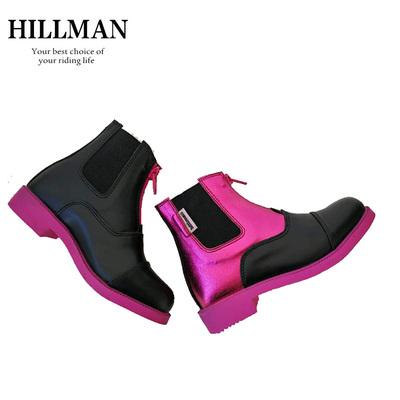 115Hillman儿童马靴儿童马术短靴小孩骑马靴防滑马靴儿童马术马靴