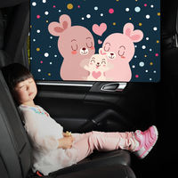 Automotive sunshade car sunscreen insulation front windshield automatic telescopic car side curtain cloth visor