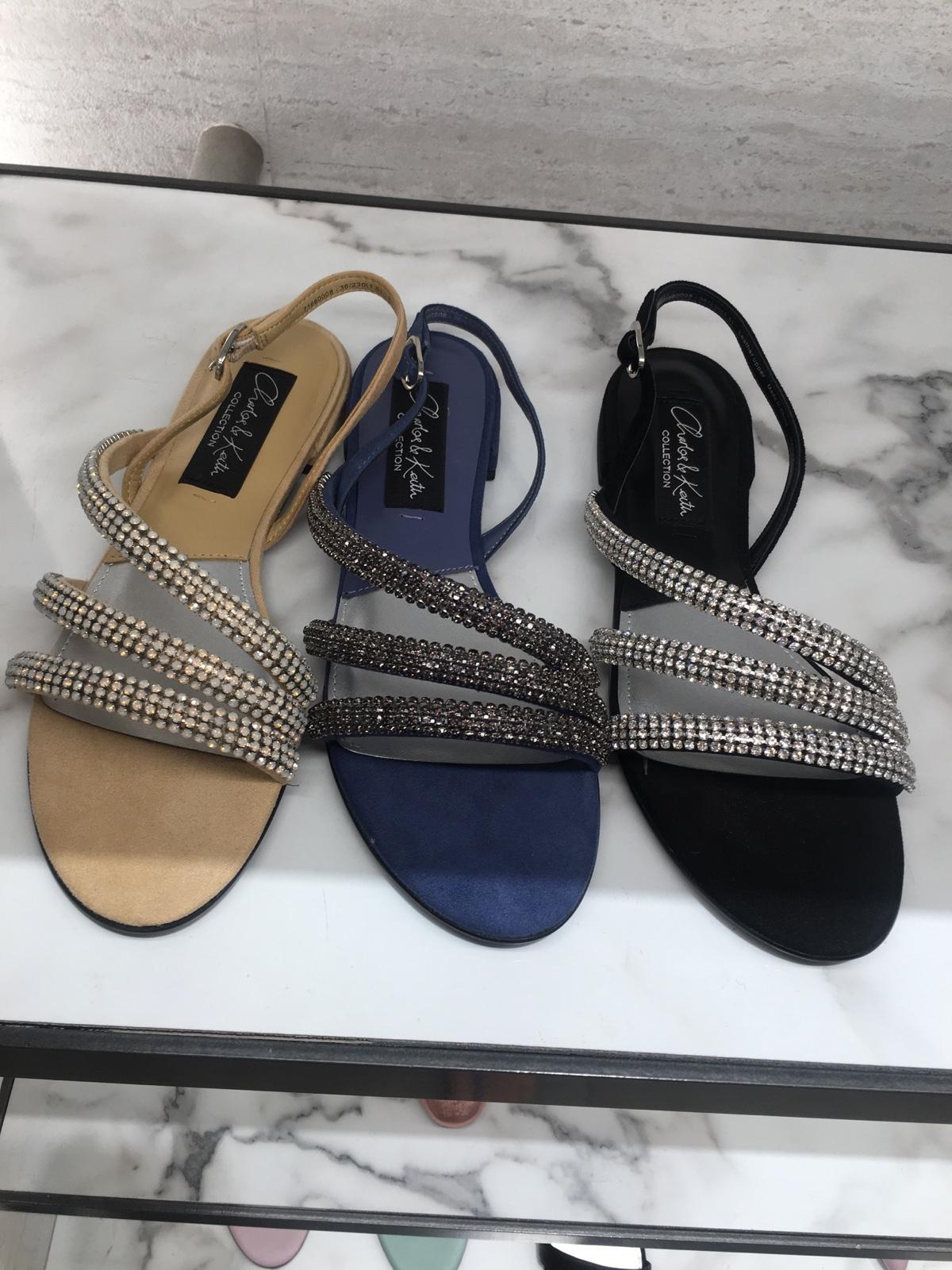 CHARLES&KEITH夏季凉鞋SL1-71660008欧美风平底细带装饰凉鞋