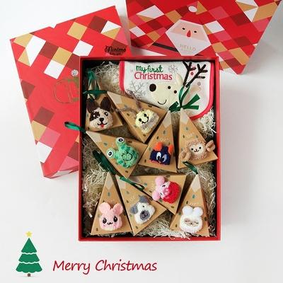 宝宝圣诞袜子儿童婴儿礼盒礼物送礼高档创意大礼包用品礼品秋加厚