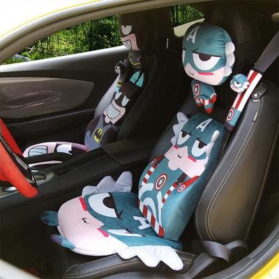 毛绒保暖汽车坐垫四季卡通座垫用品座套套装半包围通用秋冬款亚麻