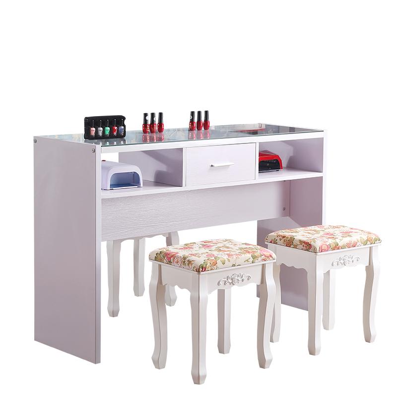 美甲桌单人双人美甲桌椅美甲台美甲桌子双人单人包邮简约现代