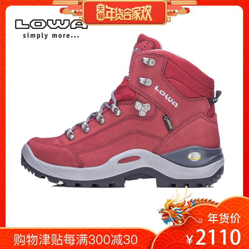 LOWA户外秋冬防水女士登山徒步鞋靴RENEGADE GTX E中帮鞋L520952
