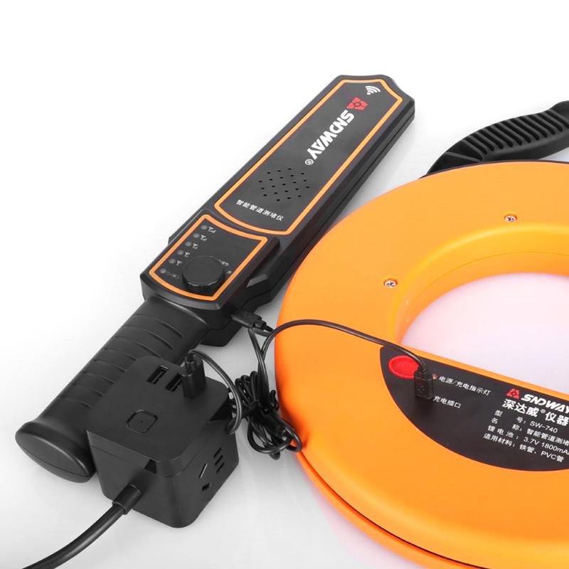 深达威穿线管道测堵仪探测器水电工暗线管墙体PVC堵塞探测仪探头