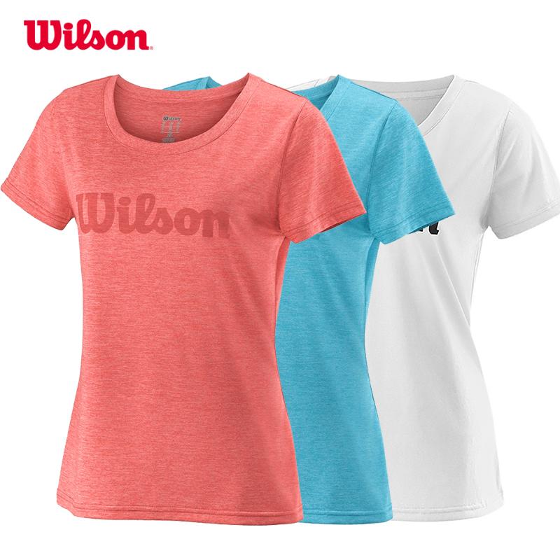 Wilson UWII SCRIPT TECH 18 新款女款网球服T恤短袖 WRA770506