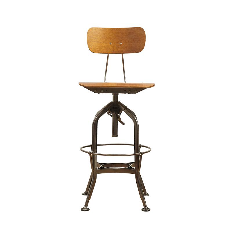 Toledo Chair 美式复古工业吧椅工业制图旋转酒吧凳吧椅 现货