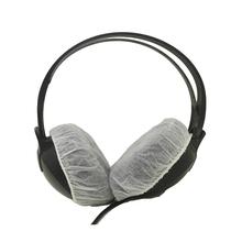 网吧网咖无纺布一次姓头戴式耳机套跑步吃鸡听诊器防尘防汗罩百只