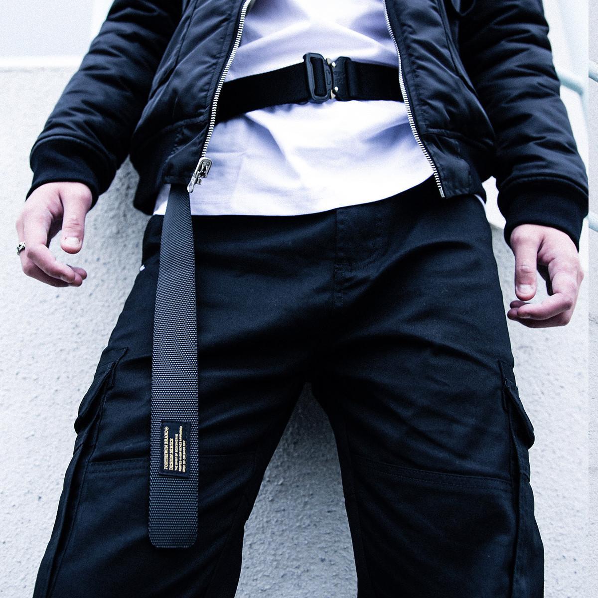FORTHEWIN 17AW 机能感 金属扣腰带高街户外扣腰带眼镜蛇户外皮带