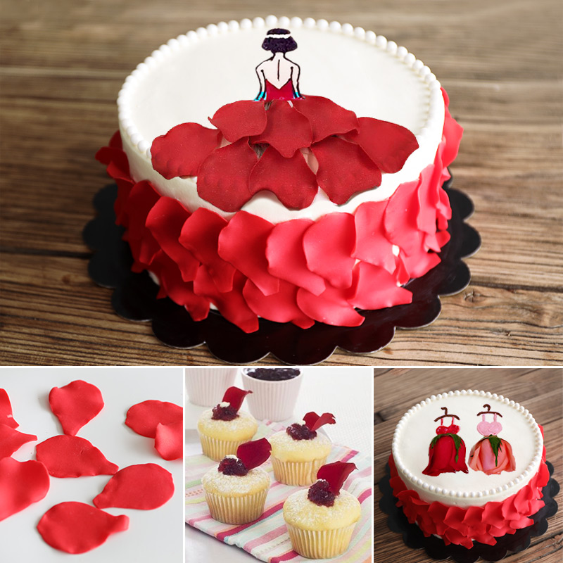 蛋糕装饰糖花翻糖