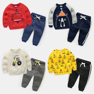 儿童套装 2018春秋新款女童装小童3岁4宝宝运动5男童1潮婴儿秋季