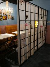 北欧铁艺屏风隔断家用客厅房间墙现代简约座屏卧室餐厅办公室玄关
