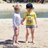 Authorized Dutch beach/bandits children's one-piece long-sleeved swimsuit UV protection upf50+ not returned