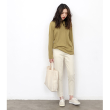 KNgs spring and autumn retro skinny, high waist white pencil pants, small feet jeans, nine-minute pants for women