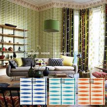英国原装壁纸 进口墙纸 几何图形 现代风格 蓝色 绿色 HQ-S-W-2