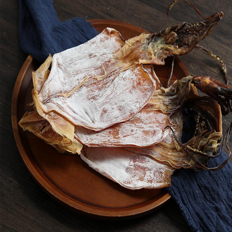 天然淡晒大鱿鱼干500g 干鱿鱼生鱿鱼板烧烤烹饪海鲜特产水产干货