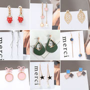 Autumn and winter models slim earrings women suitable for round face will move Christmas 2018 new wave other shore flower flower liquid earrings