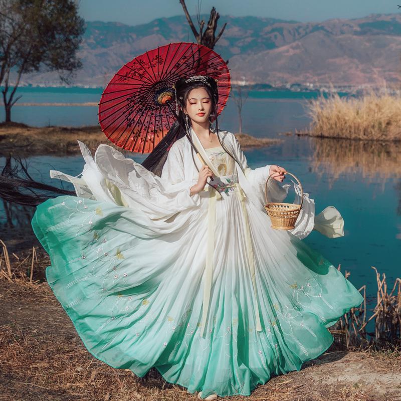 华姿仪赏 早莺 原创设计汉服女装日常对襟齐腰大摆襦裙18花朝新品