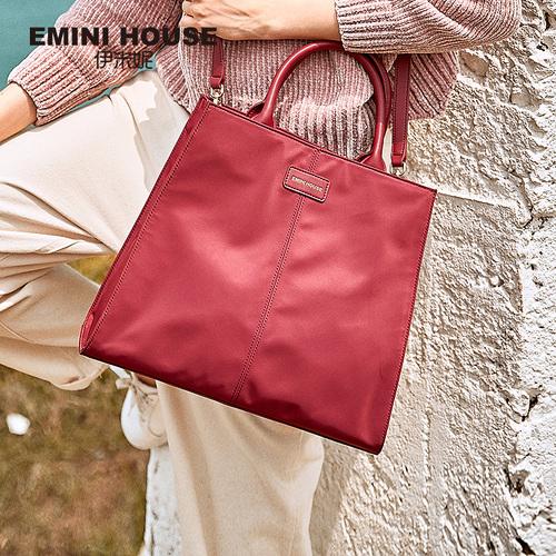 伊米妮女包2018秋冬新款大容量尼龙托特包手提斜挎购物袋都市女包