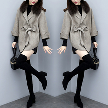 Fall and Winter 2018 Popular New Women's Dresses Large-Size, Large-collar, Cloak, Wool Coat, Short-style, Small-size Wool Coat