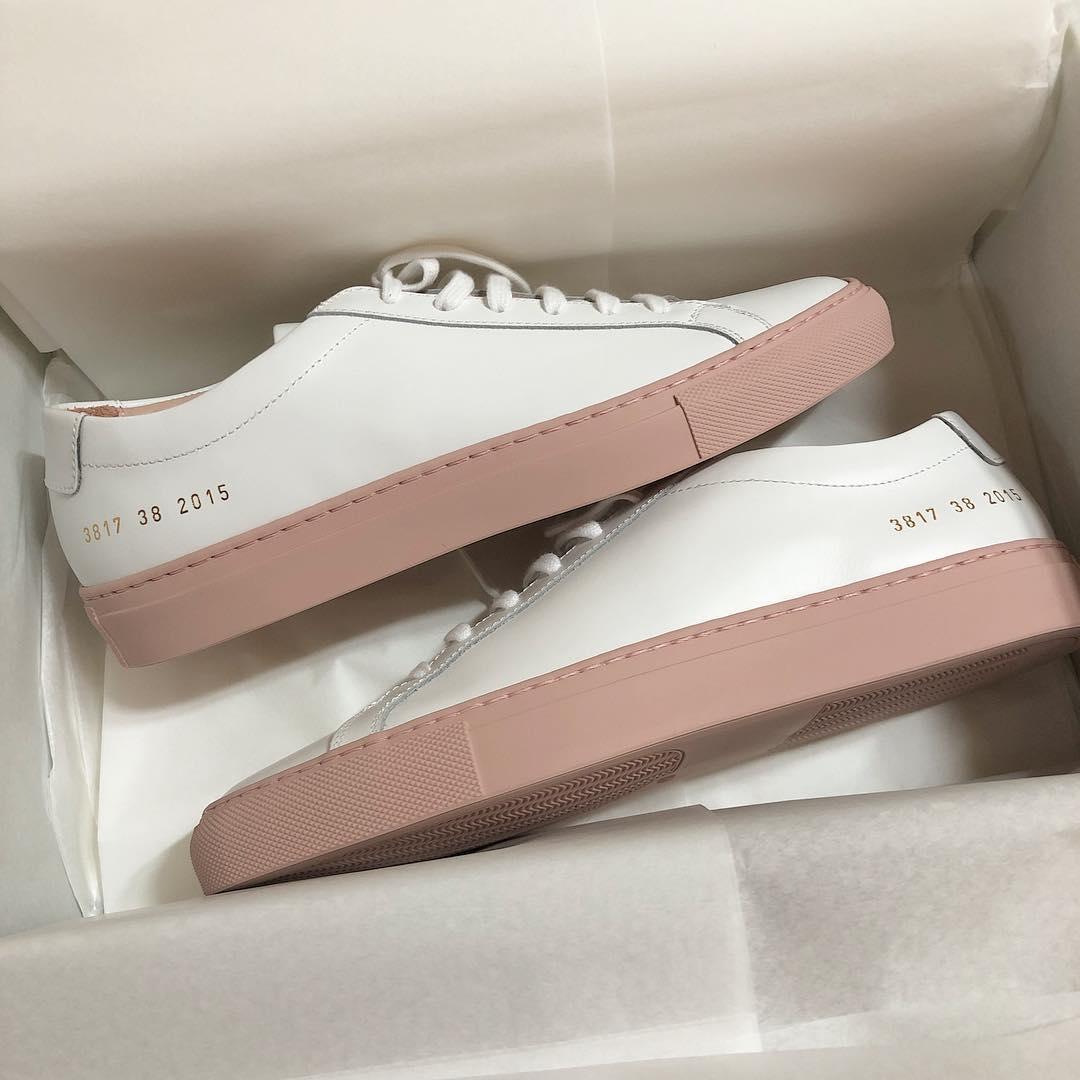 小白鞋粉色韩版