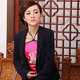 YuJia national wind Chinese wind sling woman sexy adult hanging neck lady belly pocket lady speony flowers bloom