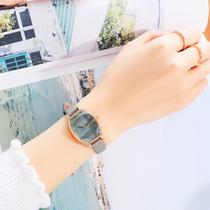 手表女时尚潮流防水学生手表女大表盘光能硅胶手表Q&Q西铁城