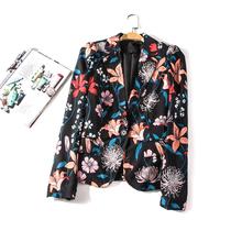出口欧美单女装胸围92-148cm 春秋花色长袖外套女西装有大码H188H