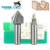 Tiger shark V-knife 0304 TCT V-knife woodworking milling cutter 45 beveled edge cutting slot of aluminium-plastic sheet