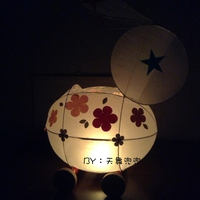 1 piece Spring Festival Traditional Pig Year Bunny Light DIY Handmade Material Pack Mid-Autumn Festival Lantern Festival Lantern Electric Candle