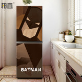 Double door diy refrigerator stickers custom Man Wei refrigerator stickers decorative stickers vibrato full stickers removable refurbished stickers