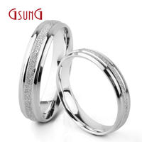 Ji Shangji PT950 Ring Marriage Couples Rings Wedding Rings Platinum Bars Men and women Love Travel Fixed Rings