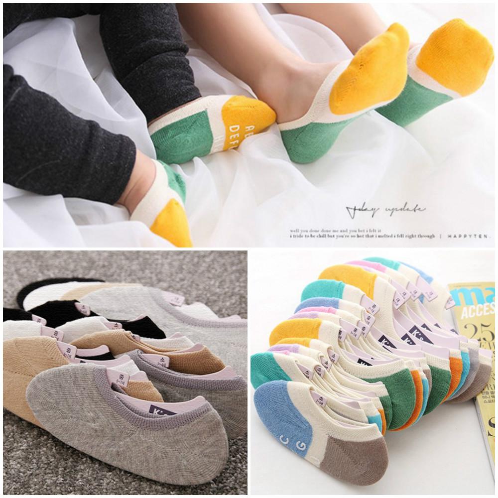 儿童袜套船袜隐形袜浅口地板防滑棉透气硅胶K'SOX春夏款韩国进口