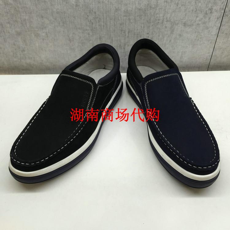 百丽男鞋磨砂皮